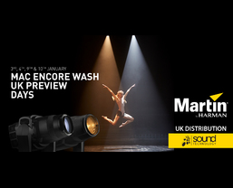 Sound Technology Ltd to hold Martin MAC Encore Wash preview days in January