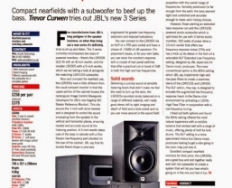 Future Music review 'excellent' JBL LSR 3 Series monitors and subwoofer