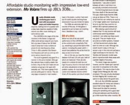 JBL Series 3 LSR308 monitors reviewed in Future Music magazine