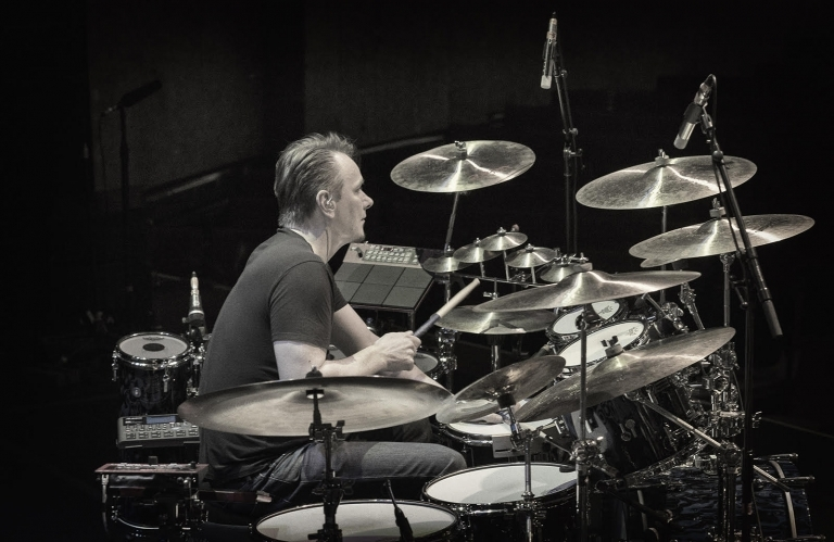 Gavin Harrison on recording, electronic percussion and playing as one of three drummers in King Crimson
