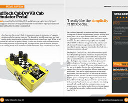 Guitar Interactive 'highly recommend' the DigiTech CabDryVR Cab Simulator pedal