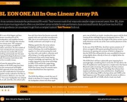 Guitar Interactive magazine call the new JBL EON ONE