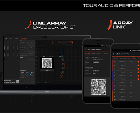 JBL Professional releases Line Array Calculator 3 and ArrayLink apps