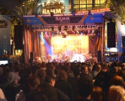 Full HARMAN live sound system deployed at the 2014 Winter NAMM Grand Plaza Main Stage