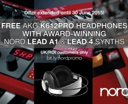 Free AKG headphones with Nord synthesisers promotion extended