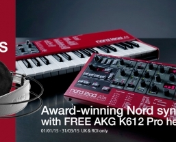 Free AKG headphones with Nord synthesizers until 31 March 2015
