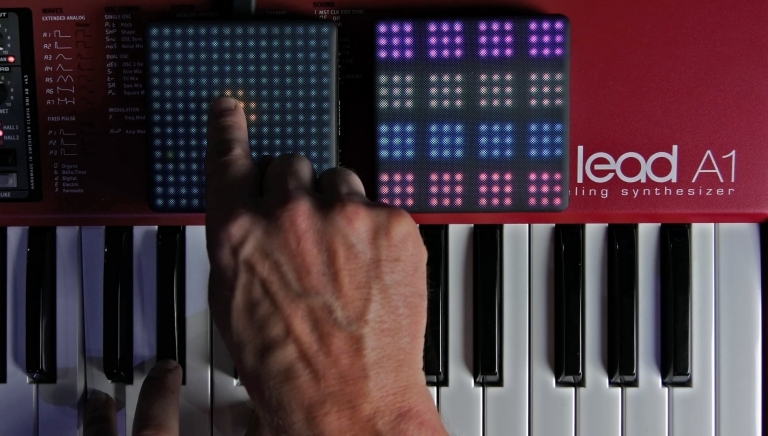 Can a ROLI Lightpad Block control a hardware synth?