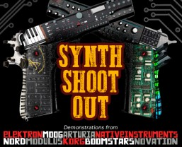 Nord synths at Red Dog Music's London branch synth event