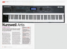 Kuzweil Artis reviewed in Sound On Sound magazine