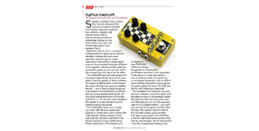 DigiTech CabDryVR Dual Cabinet Simulator pedal reviewed in Sound On Sound magazine