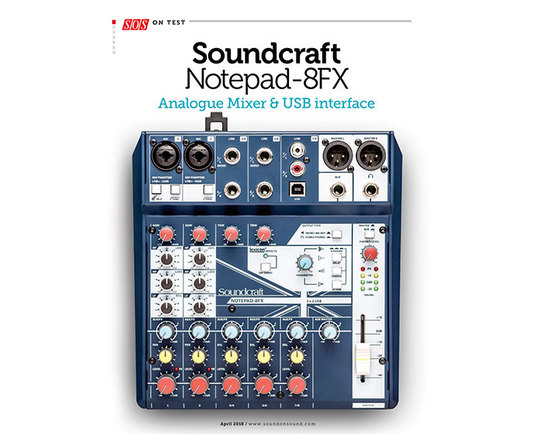 Sound On Sound review the Soundcraft Notepad-8FX
