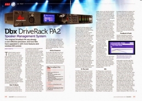 SOS magazine review 'one-box solution' - dbx DriveRack PA2