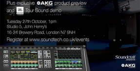 Soundcraft Vi Showcase + exclusive AKG preview & JBL tour sound demonstration