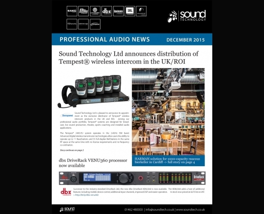 Latest professional audio newsletter now available