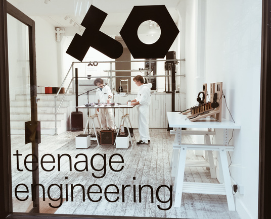 Teenage Engineering pop-up demo space at We Are Robots event in London this…