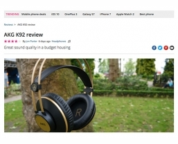 TechRadar recommends the new AKG K92 closed-back headphones