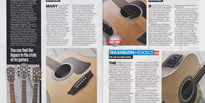 Award-winning review of new Washburn Heritage Series in Total Guitar
