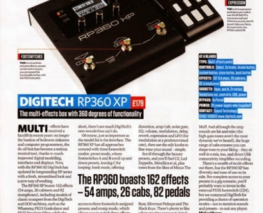 New DigiTech RP360 XP reviewed in Total Guitar magazine