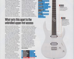 Total Guitar review the Washburn Parallaxe Ola Englund Solar 160
