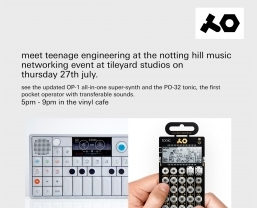 Meet Teenage Engineering at Tileyard Studios on 27 July