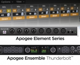 Apogee Ensemble and Element audio interfaces integrate with Logic Pro X to…