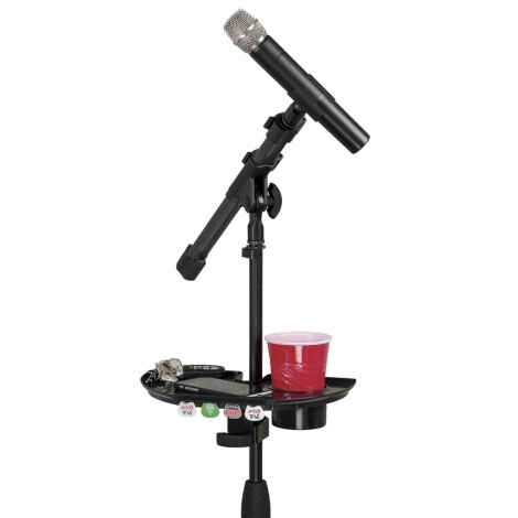 Mic Stand Accessory Tray with Drink Holder