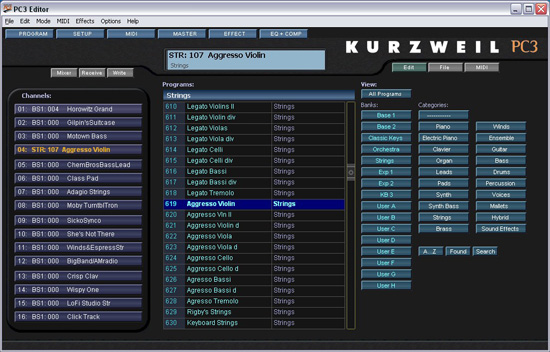 Kurzweil pc3 sound editor download windows 7