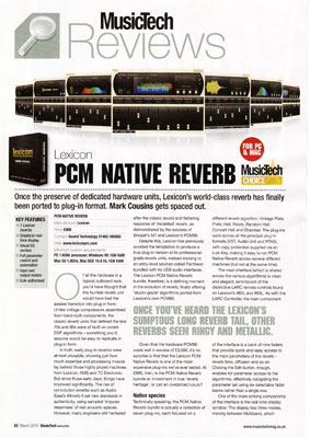 lexicon, pcm, native, reverb, bundle, plugin, review, music, tech, magazine