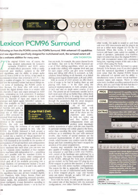 lexicon, pcm, 96, pcm96, surround, lexcion, reverb, effects, processor